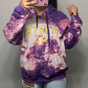 Tops - ECU Pirates Bleach Splatter Oversized Hoodie